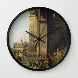 Venice, The Piazza San Marco by Canaletto Wall Clock