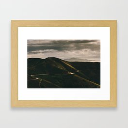 The path is not always straight Framed Art Print