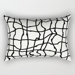 Melting Grid Pattern Rectangular Pillow