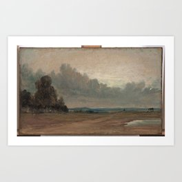 John Constable › A View on Hampstead Heath with Harrow in the Distance Art Print
