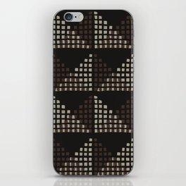 Layered Geometric Block Print in Chocolate iPhone Skin