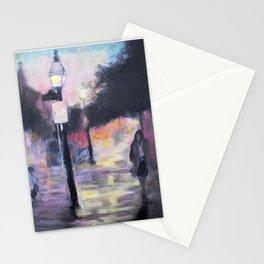 Rainy City Night Stationery Cards