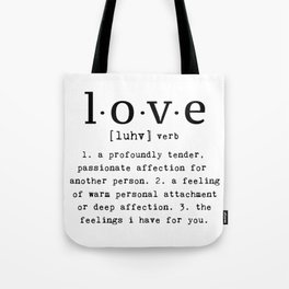 The Meaning Of Love Tote Bag