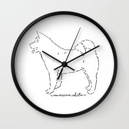 American Akita sketch Wall Clock