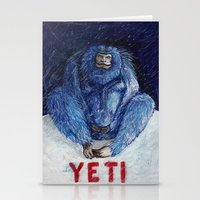 yeti Stationery Cards featuring Yeti by ----