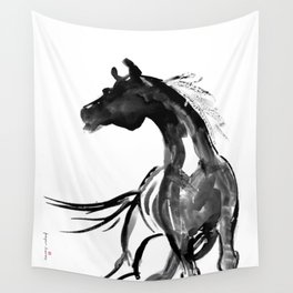 Horse (Ink sketch) Wall Tapestry