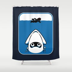 The Great White Blooper Shower Curtain