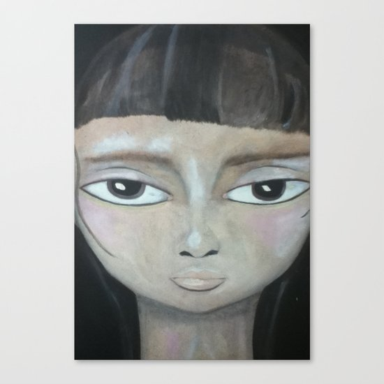 Little Brunette Canvas Print