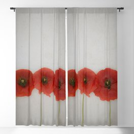 Red Poppies Blackout Curtain