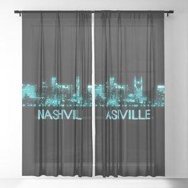 Nashville Skyline Sheer Curtain