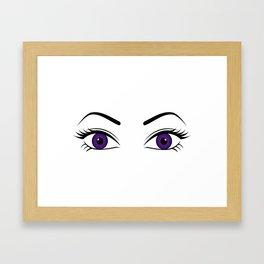 Violet Eyes (Both Eyes Open) Framed Art Print