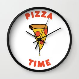 It's Always Pizza Time Wall Clock