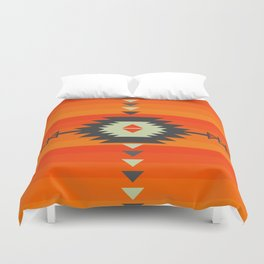 Southwestern in orange and red Duvet Cover