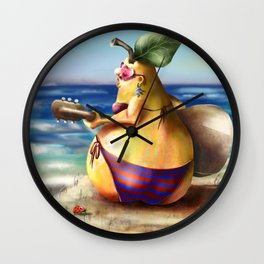 Singing on the beach  Wall Clock