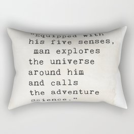 Edwin Hubble quote Rectangular Pillow