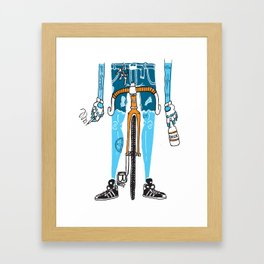 Modern Cyclist #2 Framed Art Print