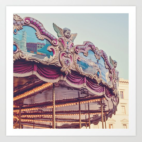 On the Piazza Art Print