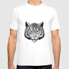 Tiger B&W MEDIUM White Mens Fitted Tee
