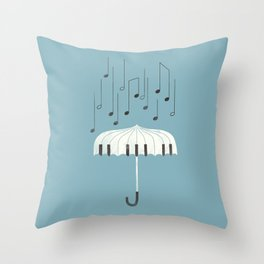 Singing in the rain Throw Pillow