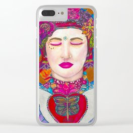 Close Your Eyes,Fall in Love, Stay There Clear iPhone Case