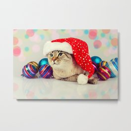Christmas Cat Metal Print