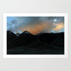 Changthang Sunset Art Print