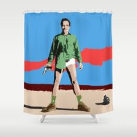 walter white Shower Curtains featuring Walter White by Becky Rosen