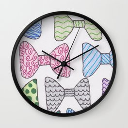 Bow My! Wall Clock