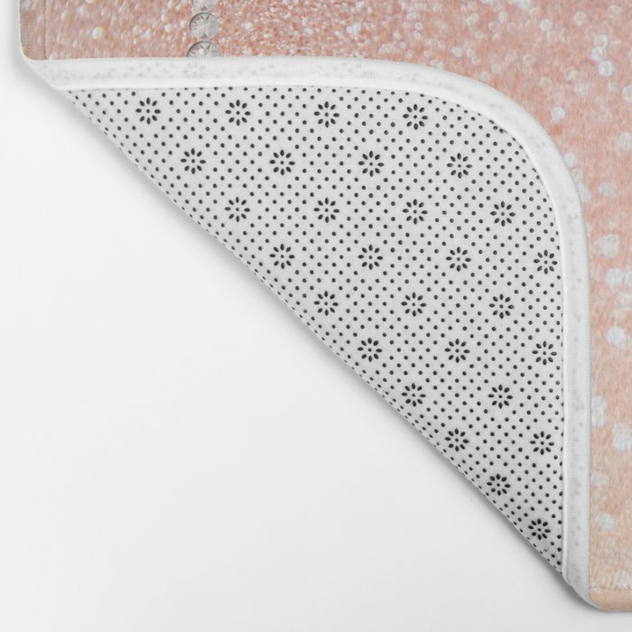 Diamonds are girls best friends II - Pink glitter texure Bath Mat