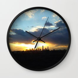 Golden City Wall Clock