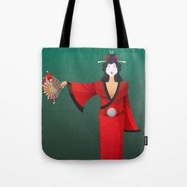 Vector Geisha (Turning Japanese) Tote Bag