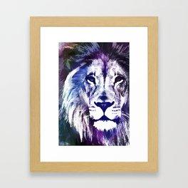 Purple Lion Framed Art Print