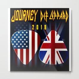 Def Lepp & Journey Metal Print
