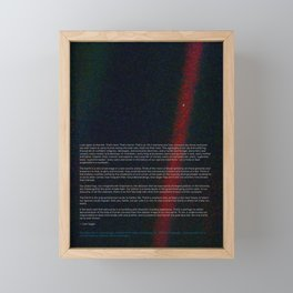 Pale Blue Dot - Voyager 1 & Carl Sagan quote Framed Mini Art Print