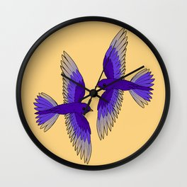 Purple Martins Wall Clock