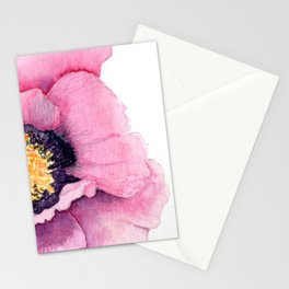 Large Watercolor Poppy Stationery Cards