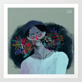 Garden in his nose Art Print