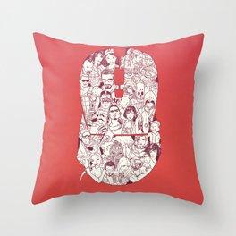 Adulthood - Mashup Throw Pillow