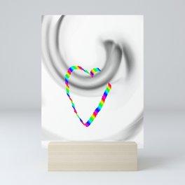 Hook heart Mini Art Print