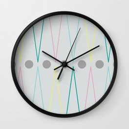 Soft triangles Wall Clock
