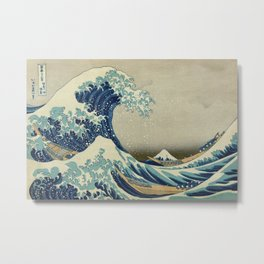 The Great Wave off Kanagawa Metal Print