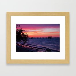 A Purple Past Framed Art Print