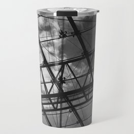 Glass Ceiling IV (Portrait) - Black and White Architectural Photography Travel Mug