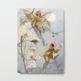 """""""Fairies Mid Sweet Peas"""" by Margaret Tarrant Metal Print"""