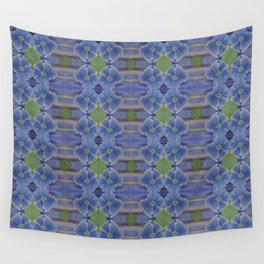 Nasturtium Flower Pattern Wall Tapestry