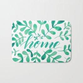 Watercolor home foliage - green Bath Mat