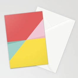 Abstract Pastel Perspective Stationery Cards