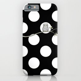 Out on a Limb - Polka Dot Owl Moon iPhone Case