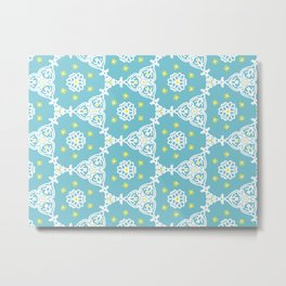Lacy Blue Metal Print
