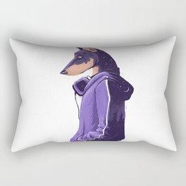 Street Dog Rectangular Pillow